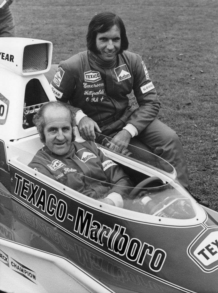 Detail of Denny Hulme and Emerson Fittipaldi by Anonymous
