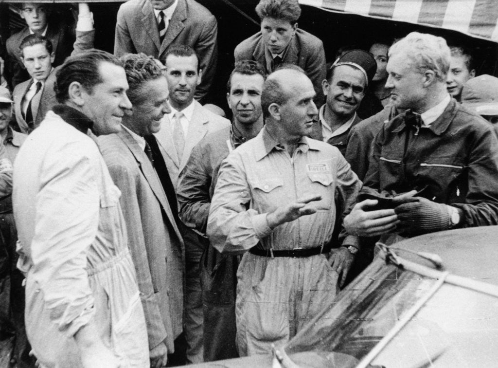 Detail of Giuseppe Farina and Mike Hawthorn by Anonymous