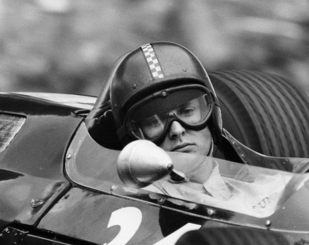 Detail of Chris Amon in a Lotus 25-BRM V8 by Anonymous