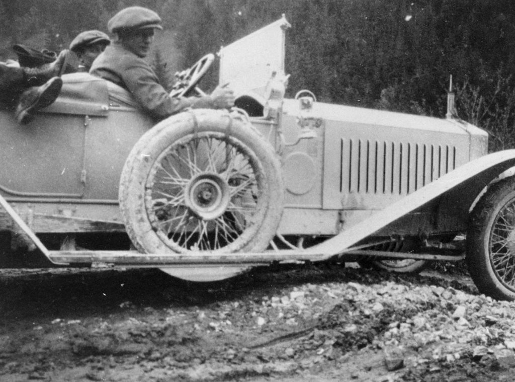 Detail of Rolls-Royce Silver Ghost in the Alpine Trial by Anonymous