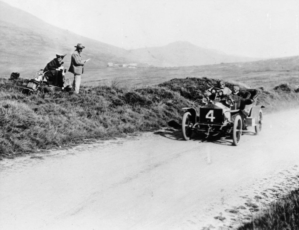Detail of Charles Rolls on the way to winning the Isle of Man TT race in a 20 hp Rolls-Royce by Anonymous