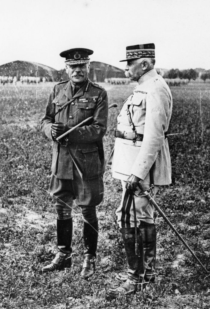 Detail of Field Marshal Sir Douglas Haig and General Francois Anthoine by Anonymous