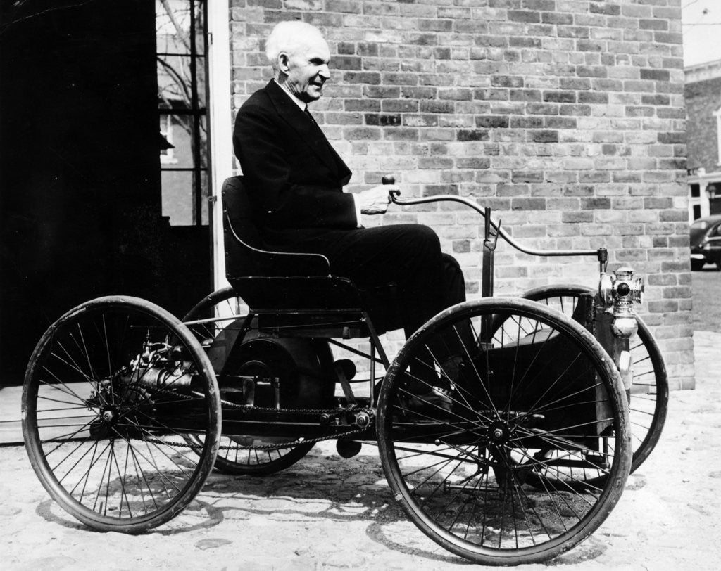 Detail of Henry Ford on a 1896 Ford by Anonymous