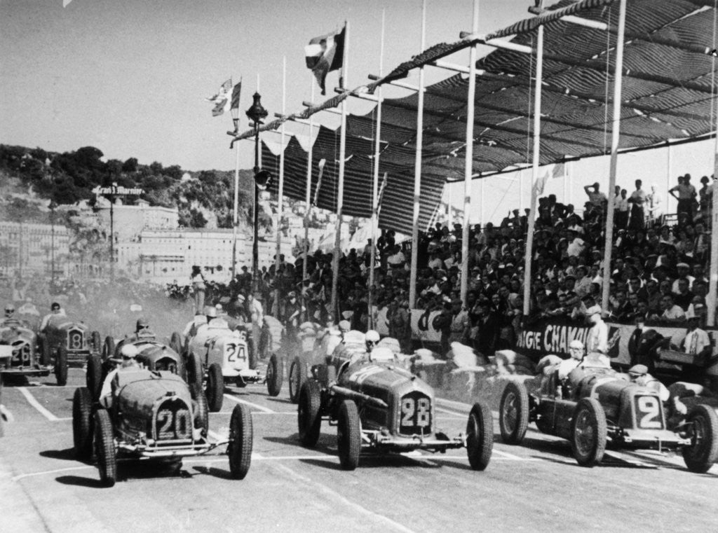 Detail of The starting grid for the Nice Grand Prix by Anonymous