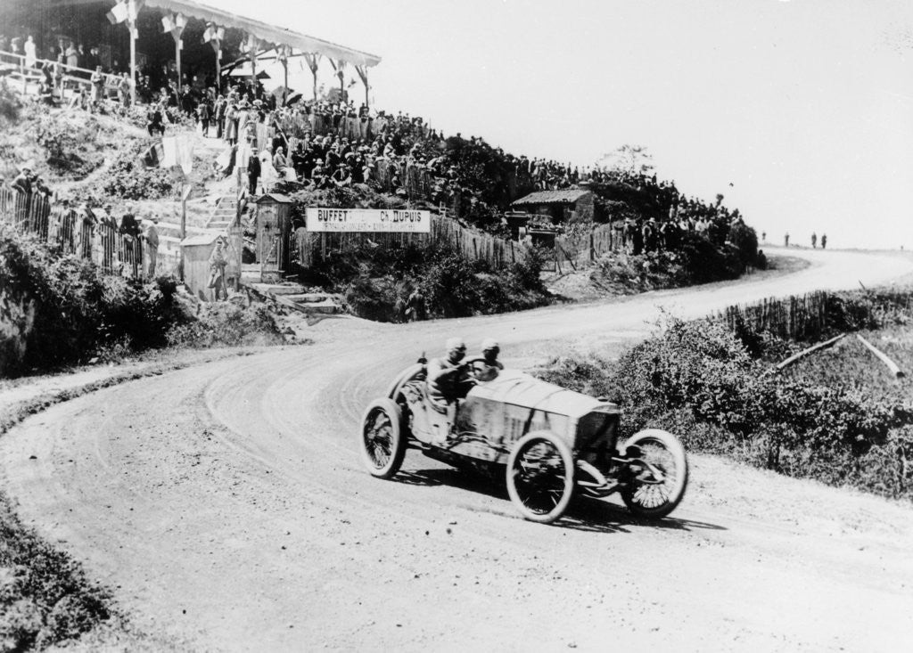 T Pilette in a Mercedes 4.5 litre at the French Grand Prix by Anonymous
