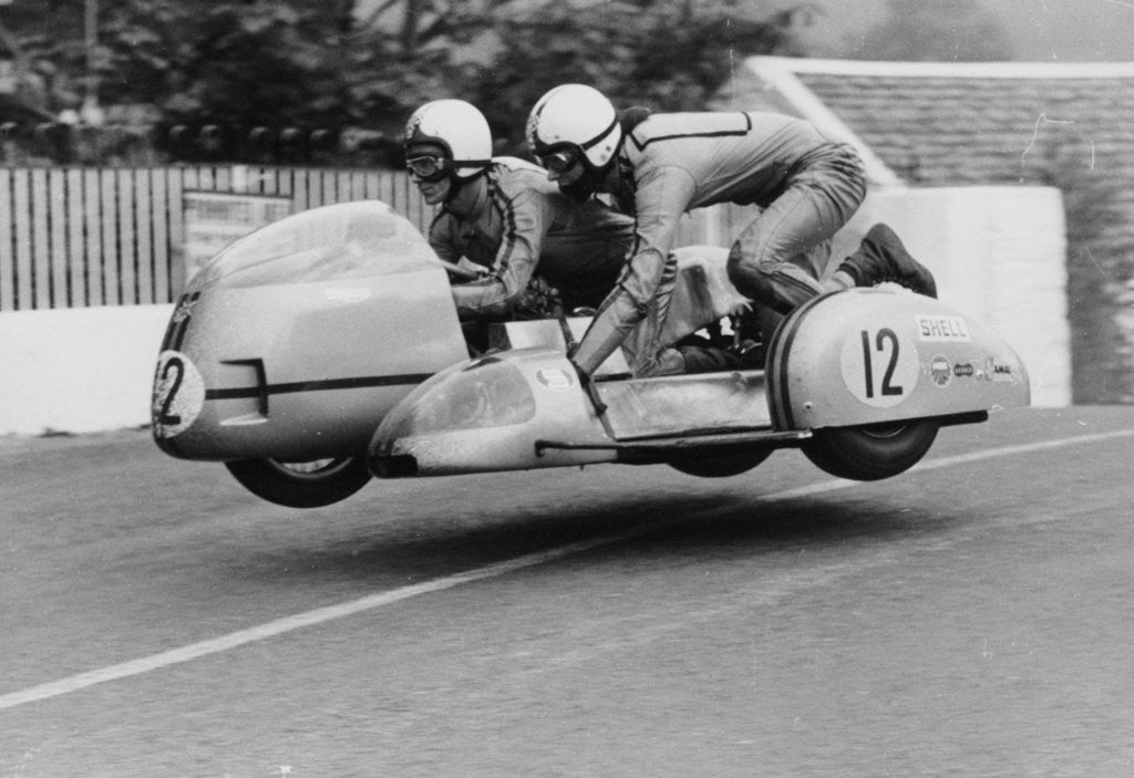 Detail of Sidecar TT race by Anonymous