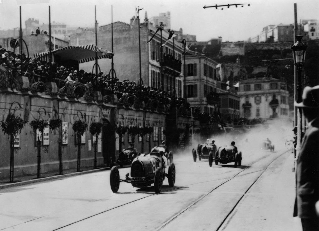 Detail of Start of the inaugural Monaco Grand Prix by Anonymous