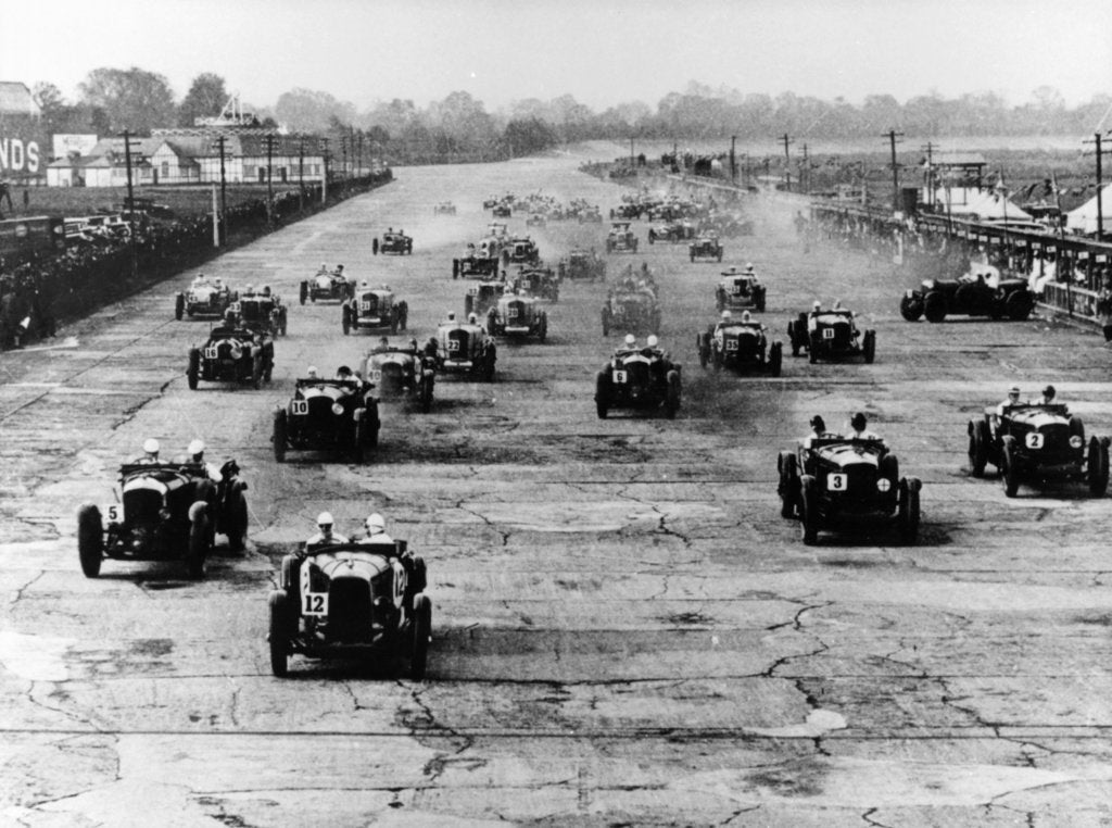 Motor race, Brooklands, Surrey, 1920s