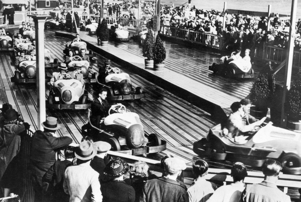 Dodgem car track by Unknown