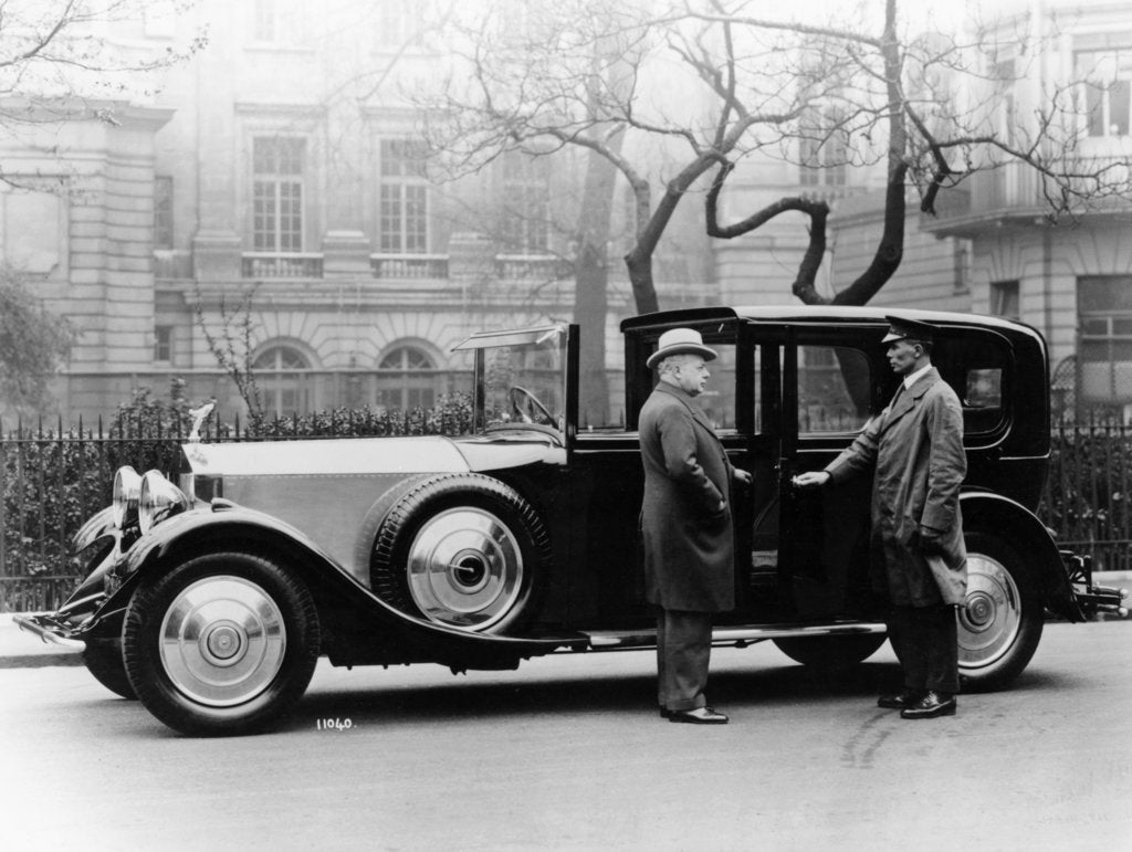 Detail of Rolls Royce with chauffeur by Unknown