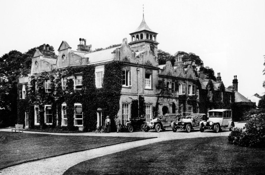 Fleet of cars at Castle Malwood, Hampshire
