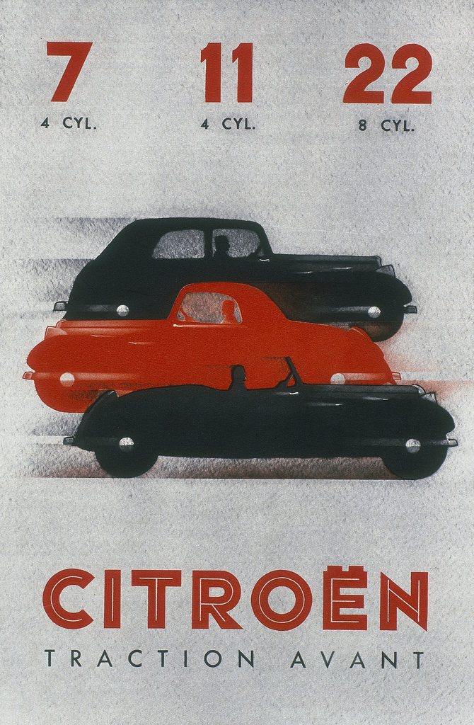 Poster advertising Citroën cars, 1934