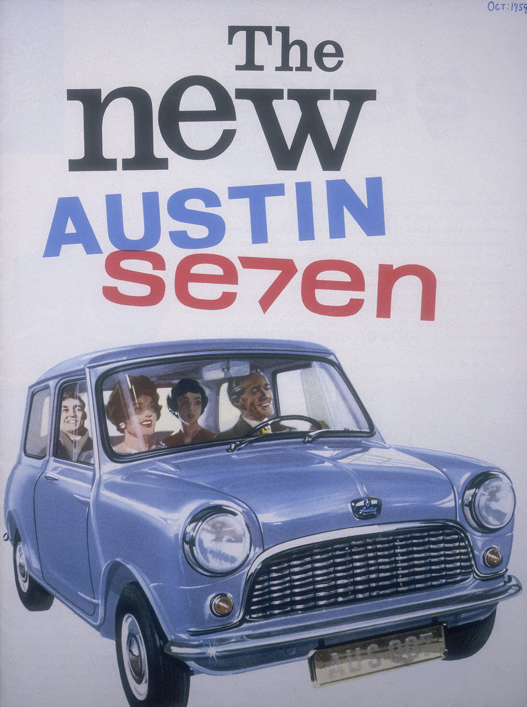 Detail of Poster advertising Austin cars by Anonymous