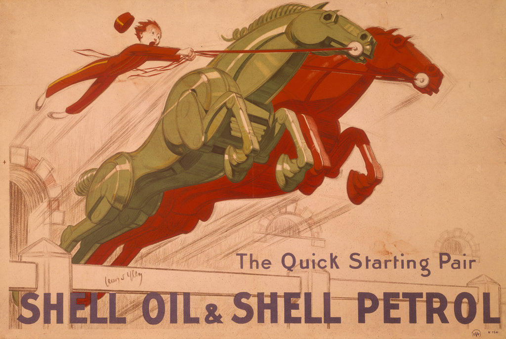 Detail of Poster advertising Shell oil and petrol by Unknown