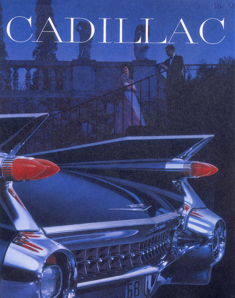 Detail of Poster advertising a Cadillac by Anonymous
