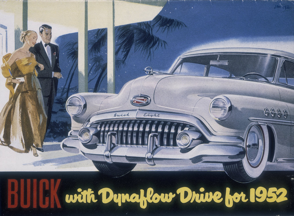 Detail of Poster advertising a Buick by Anonymous