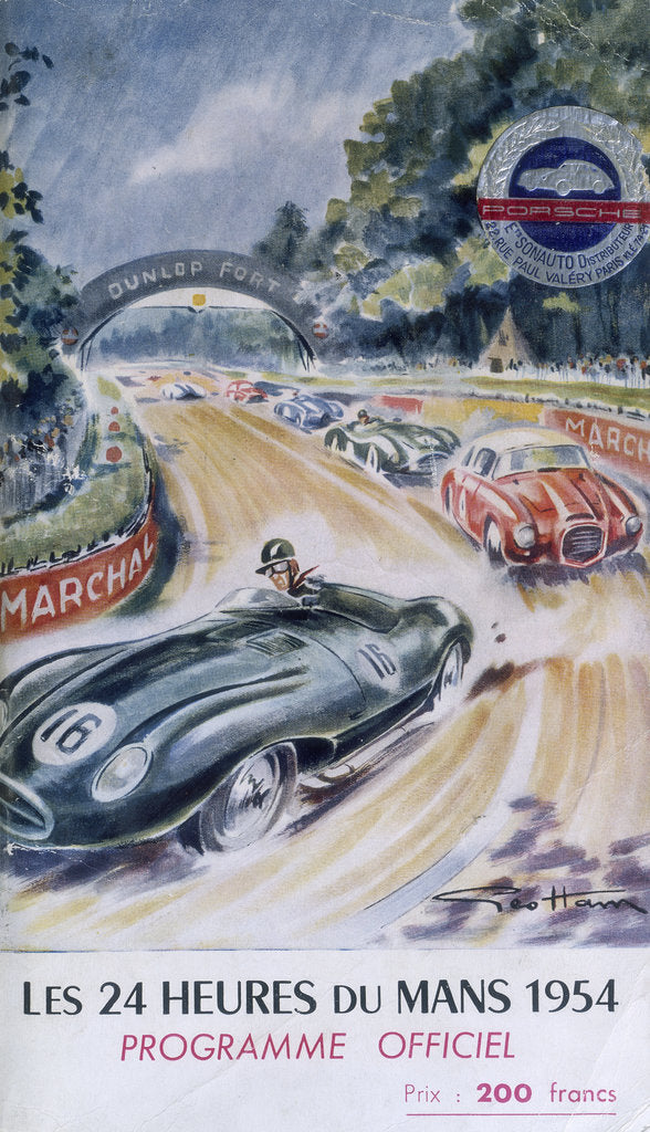 Detail of The official programme for Le Mans 24 Hours, 1954 by Unknown