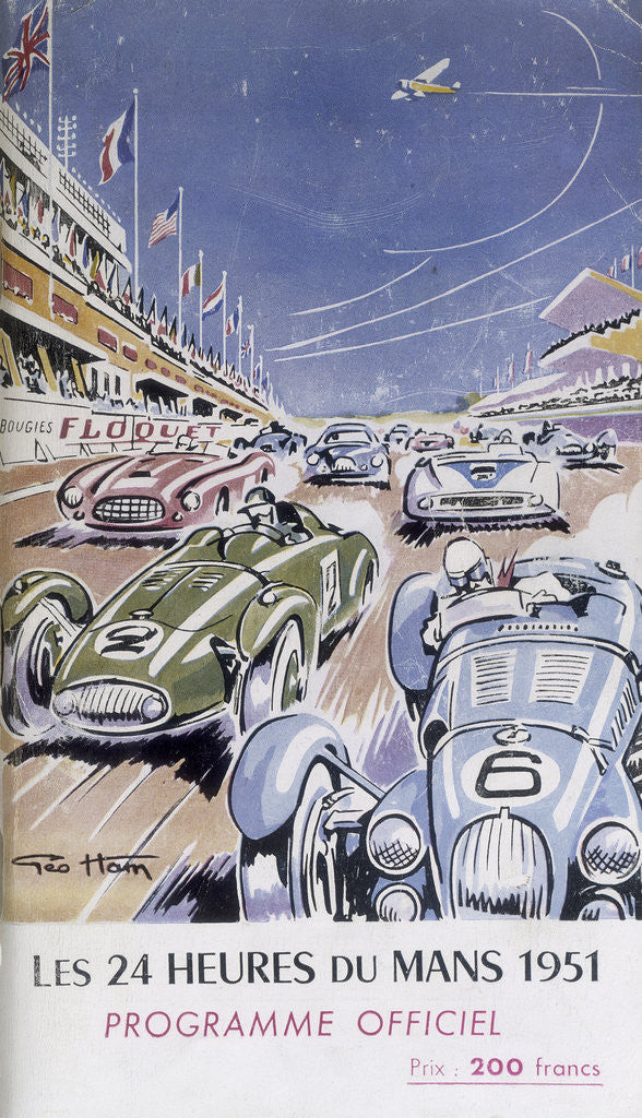 Detail of Programme for Le Mans 24 Hours by Anonymous