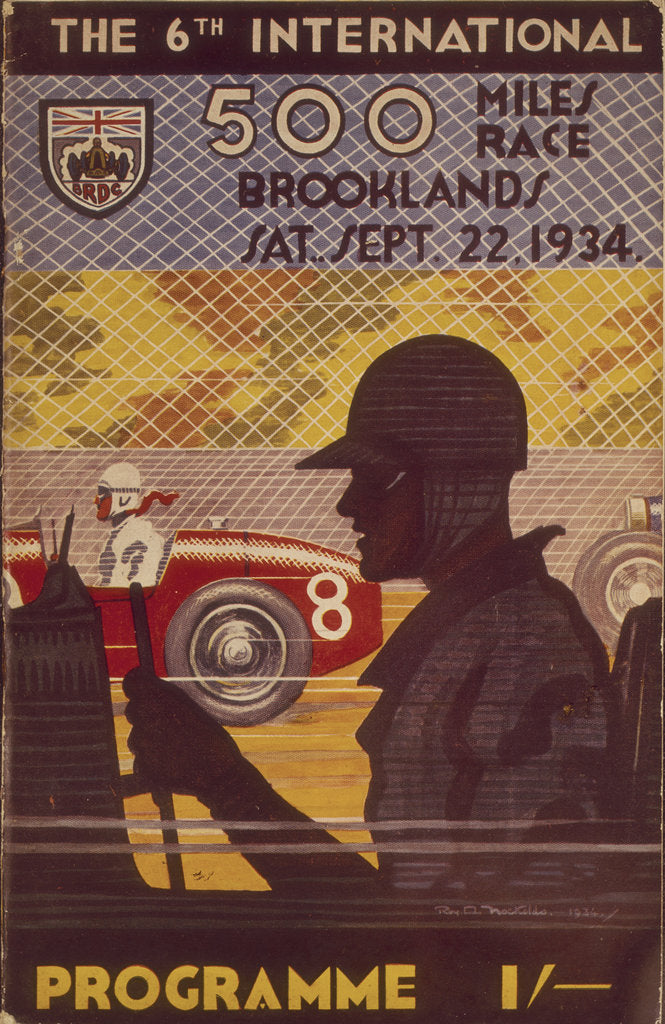 A programme for the Brooklands 500 miles race, 1935