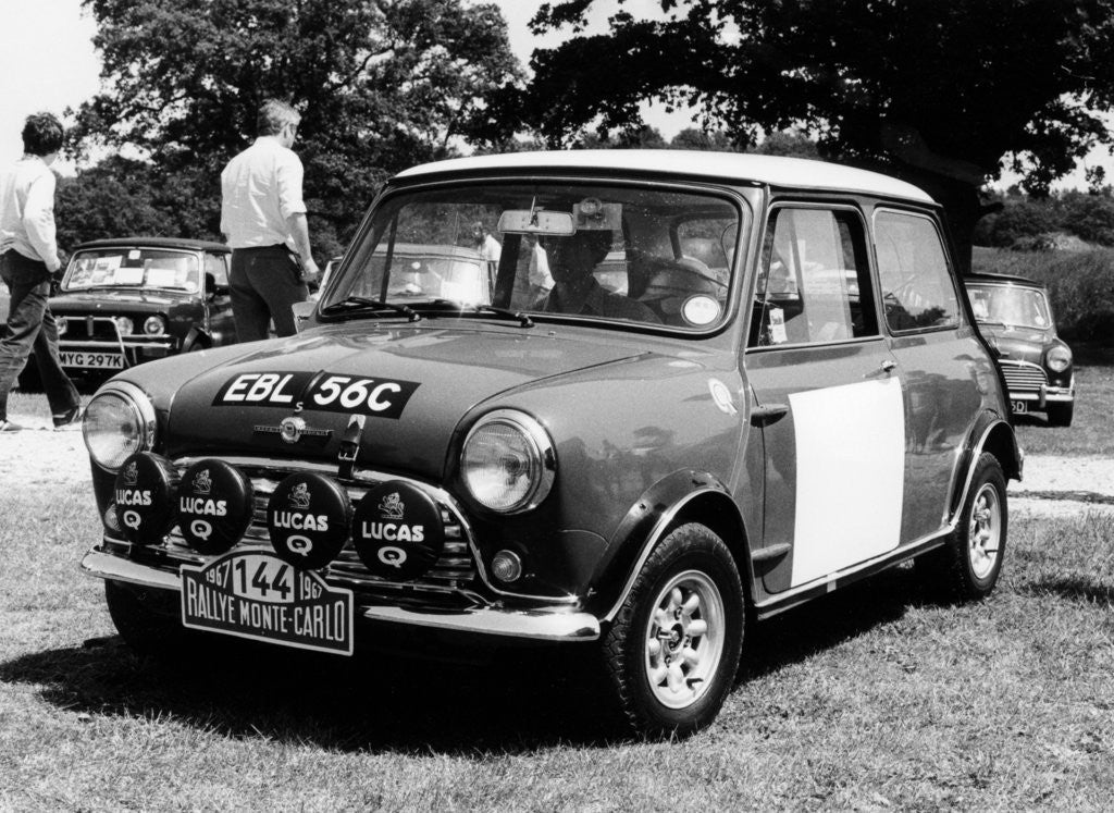 1965 Mini Cooper S Rally car posters & prints by Anonymous