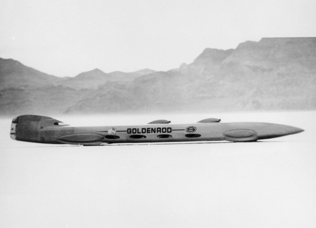 Detail of 'Goldenrod' Land Speed Record attempt car by Anonymous