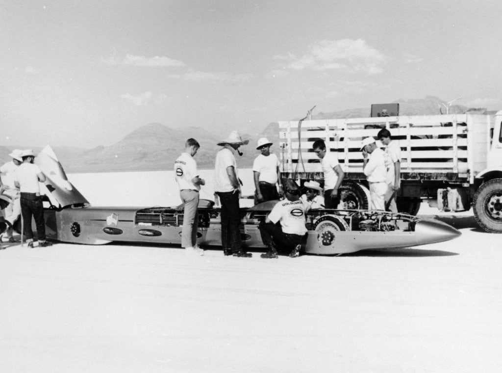 Detail of 'Goldenrod' Land Speed Record car by Anonymous