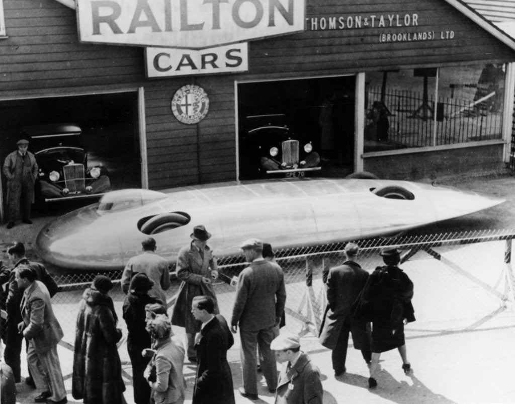 Detail of Railton Special Land Speed Record car by Anonymous