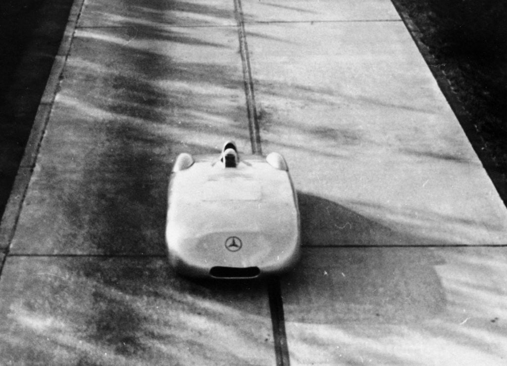Detail of Mercedes-Benz Streamliner car by Anonymous