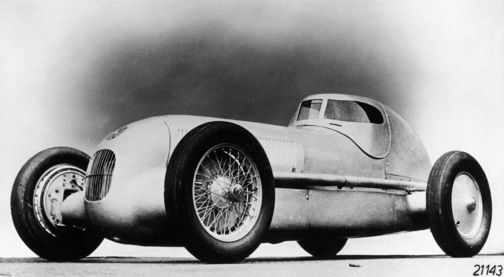 Detail of Mercedes-Benz W25 Streamliner car by Anonymous