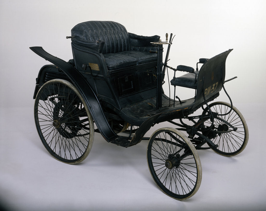 Detail of 1898 Benz Velo 3hp car by Unknown