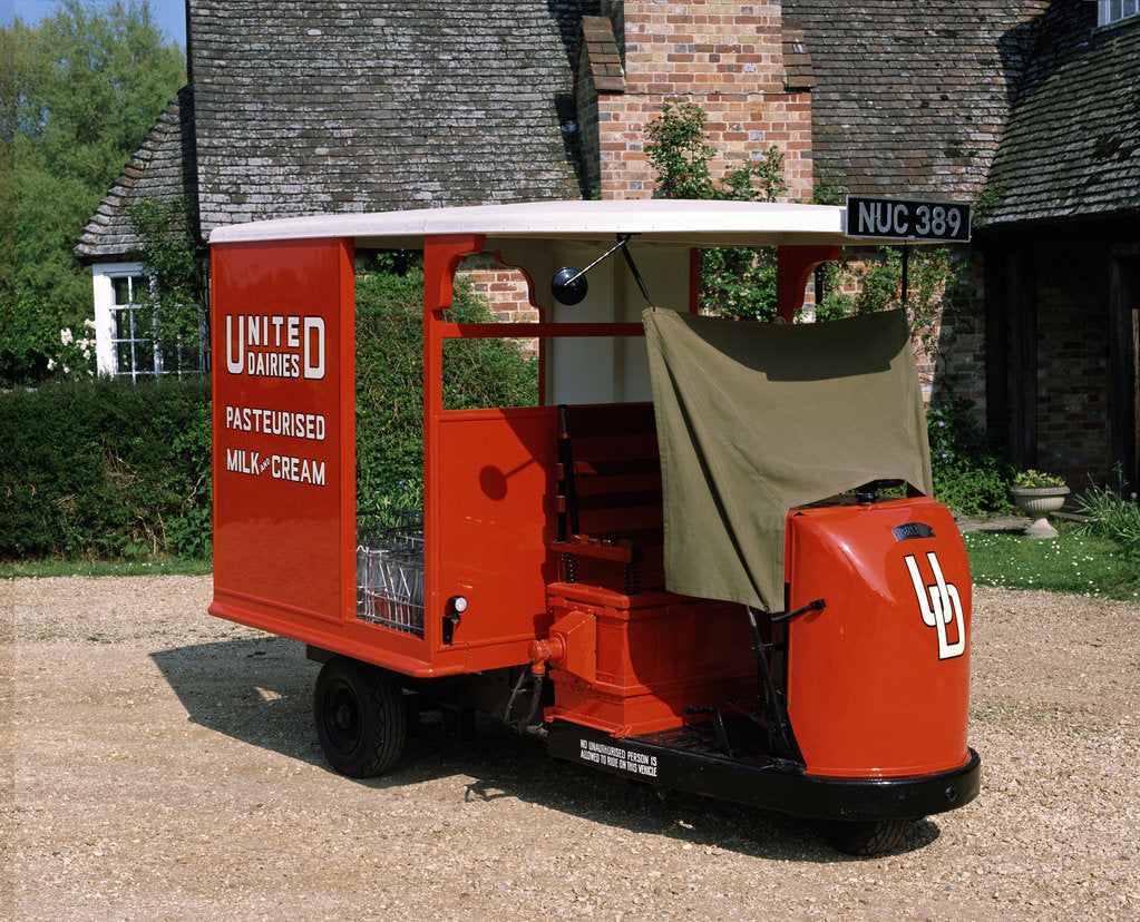 Detail of 1947 Brush Pony Electric Milk Float by Unknown