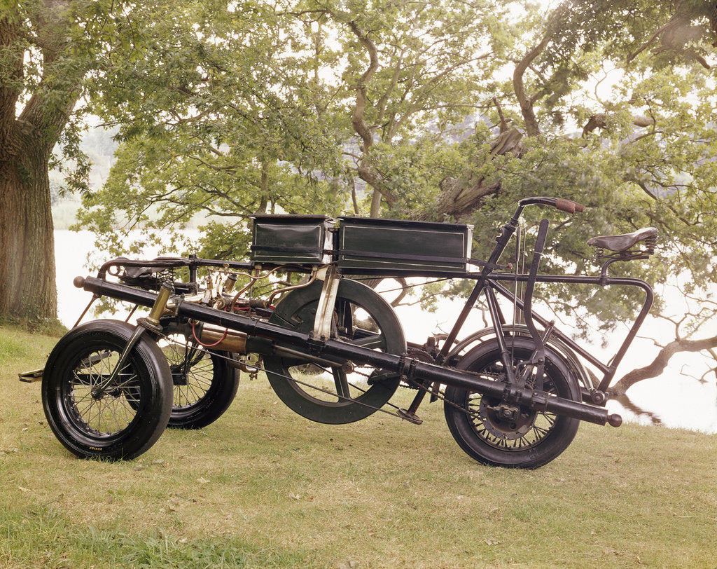 Detail of An 1896 Pennington motor-tricycle by Unknown