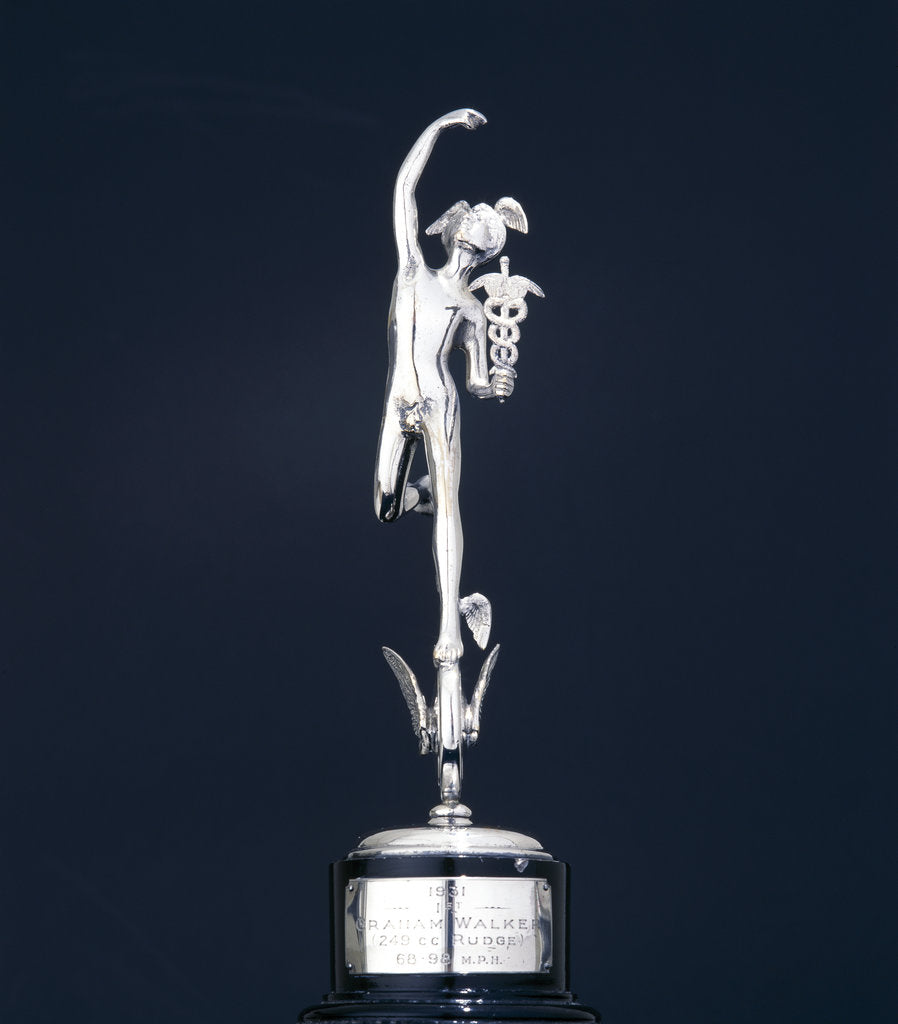 Detail of Junior TT winner's trophy for 1931 by Unknown