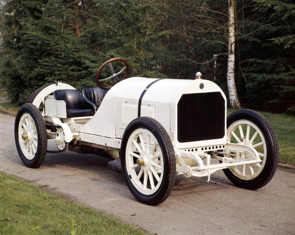Detail of A white 1908 Benz racer by Unknown