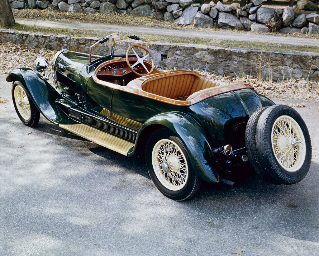 Detail of A 1928 Bugatti Type 44 viewed from the rear by Unknown