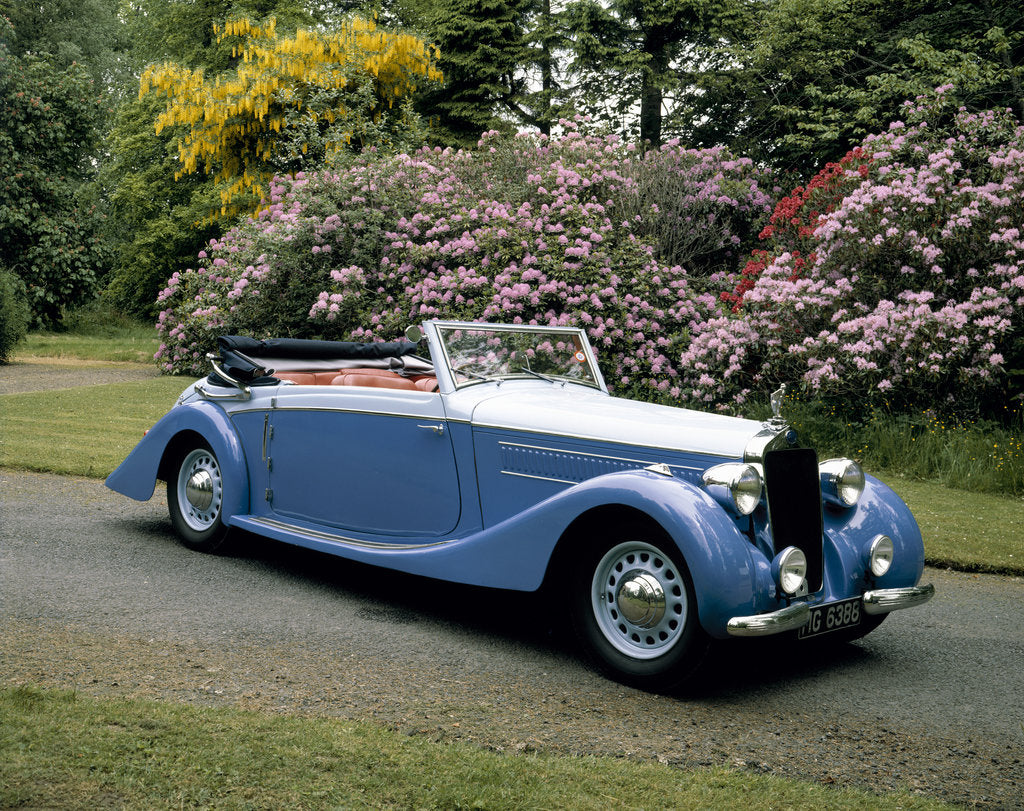 Detail of A 1937 Delage D6-75 Sport DHC by Unknown