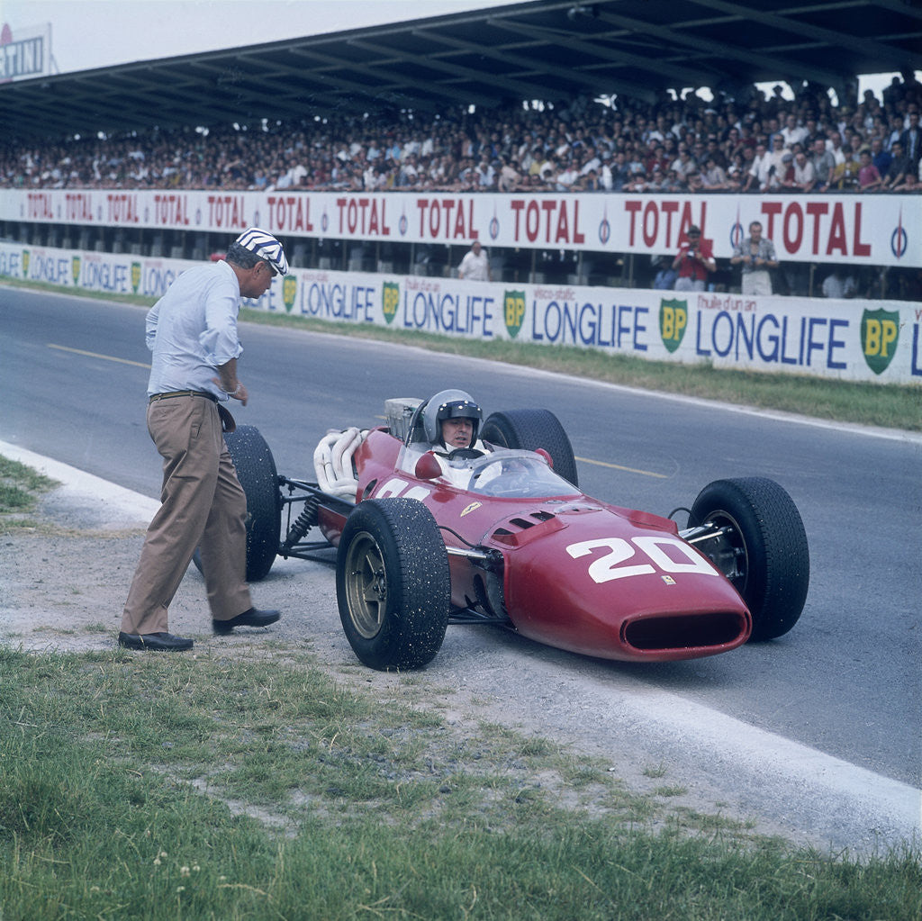 Lorenzo Bandini in a Ferrari 312 by Anonymous