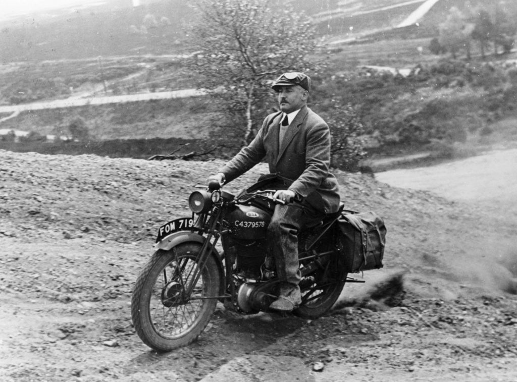 1940 BSA motorbike by Anonymous