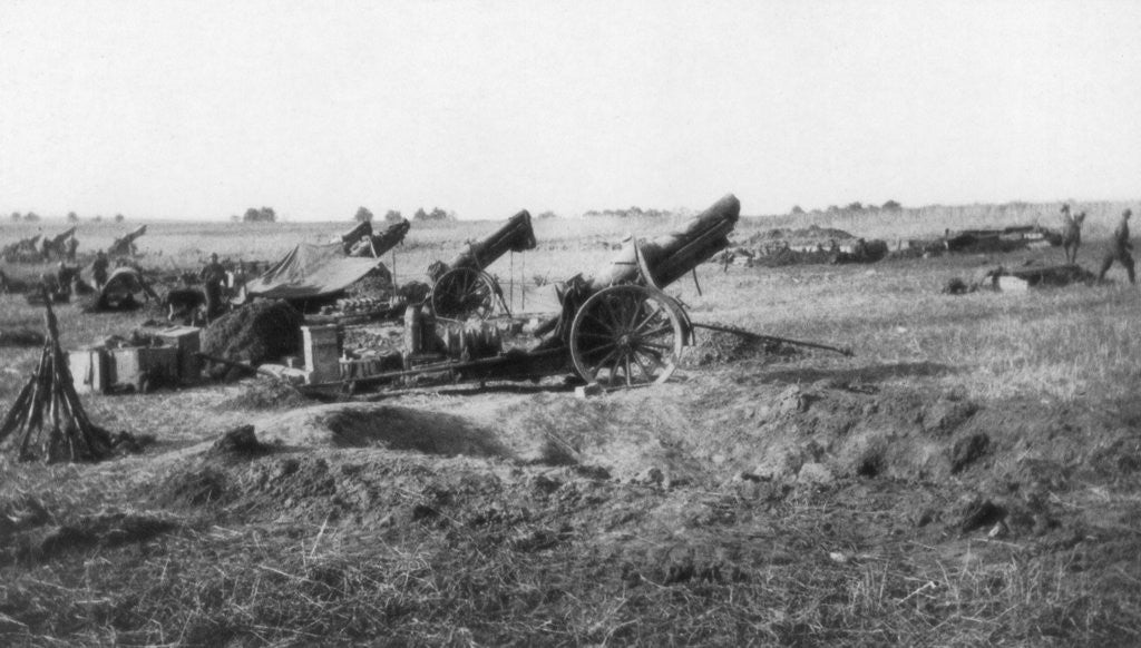 Detail of American 155th artillery battery, south of Soissons, France by Anonymous