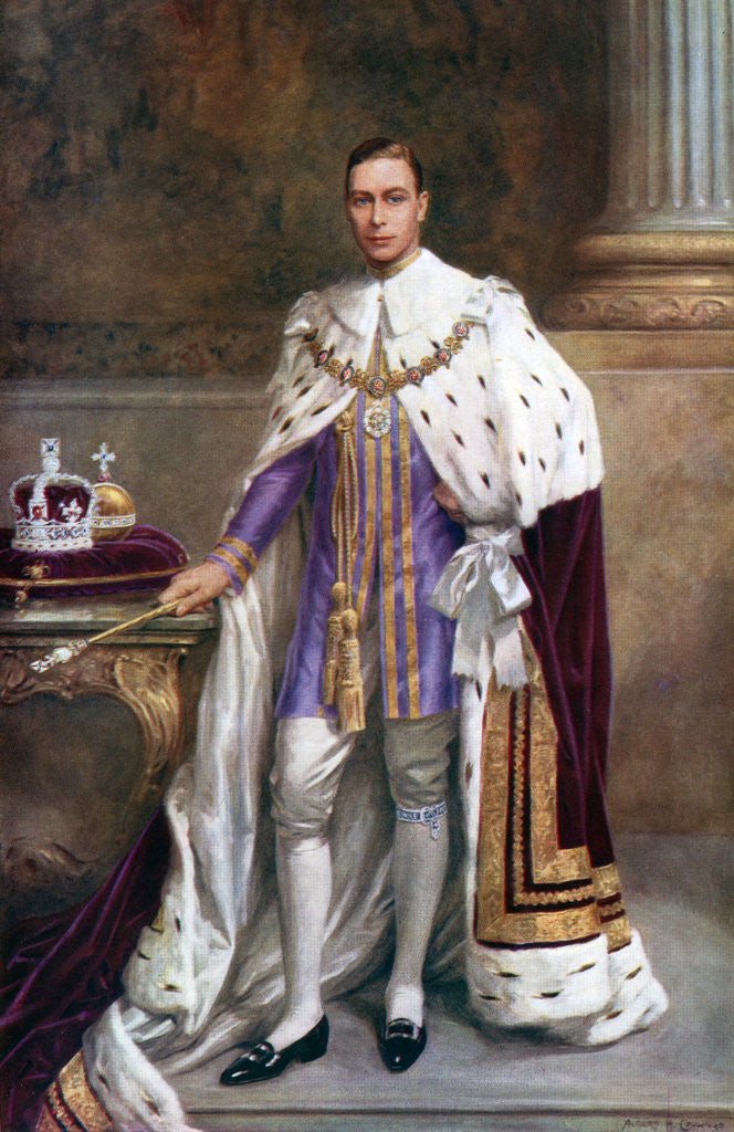King George Vi In Coronation Robes Posters Amp Prints By