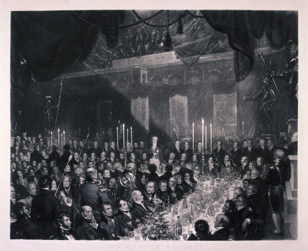 Detail of Reform Banquet at the Guildhall, London by