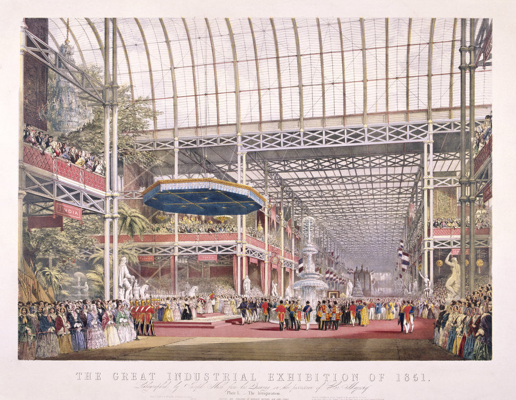 Detail of Great Exhibition, Crystal Palace, Hyde Park, London by