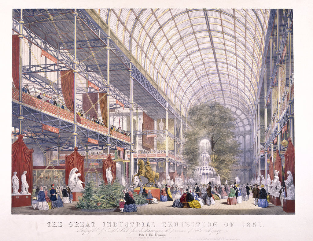 Detail of Great Exhibition, Crystal Palace, Hyde Park, London by Dickinson Brothers