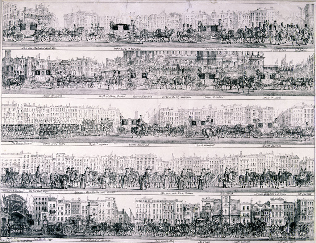 Detail of Queen Victoria's Progress through London by Joseph Robins