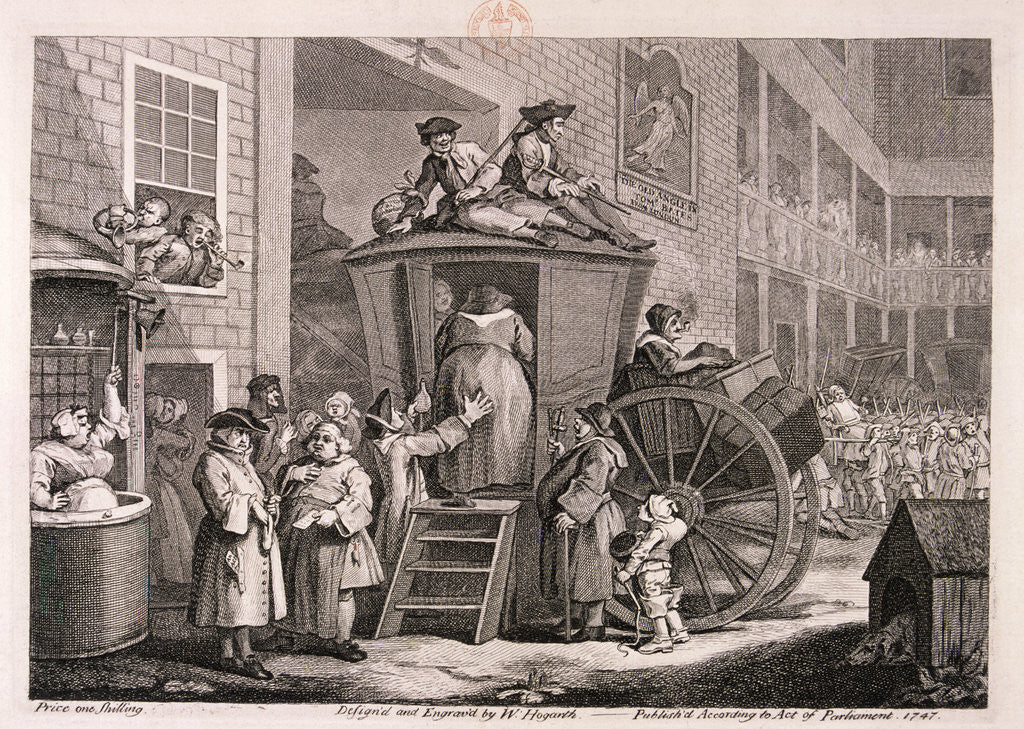 Detail of The stage-coach or the country inn yard by William Hogarth