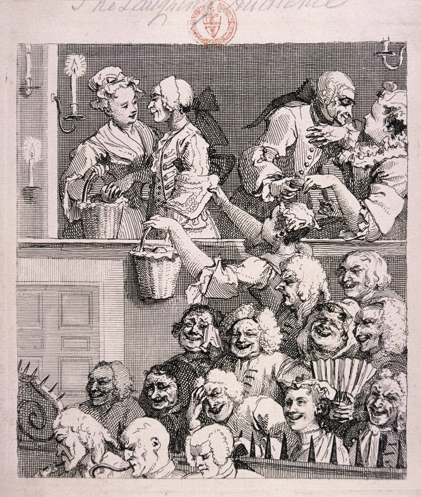 Detail of The laughing audience by William Hogarth