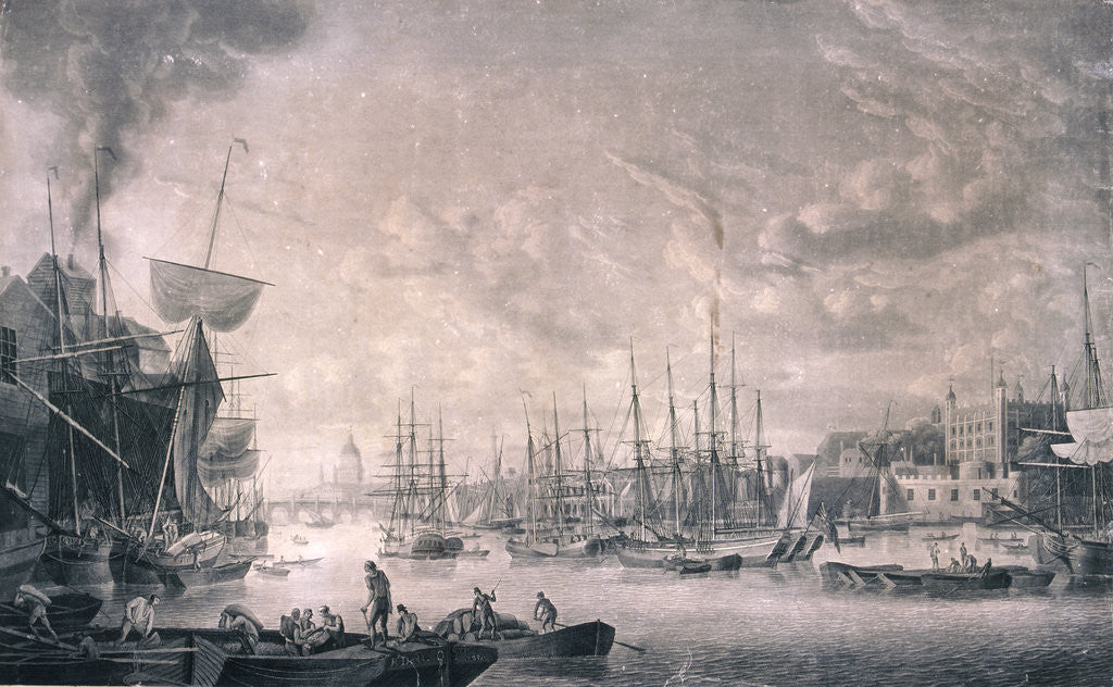 Detail of View of London from the East by Anonymous
