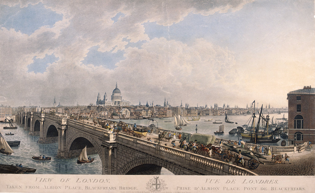 Detail of City of London from the South by