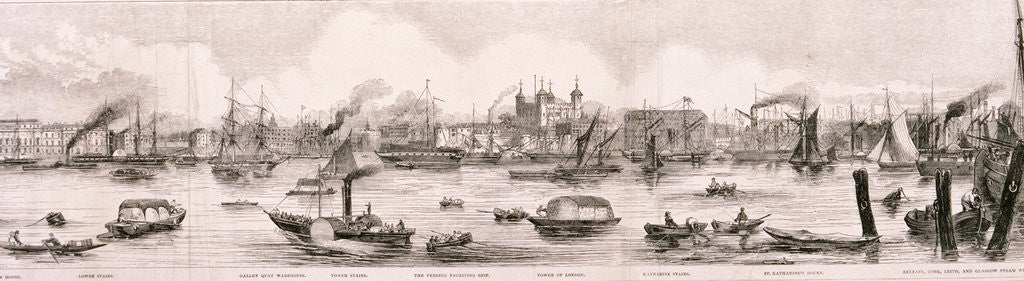 Detail of London from the River Thames, 1844 by Frank Vizetelly