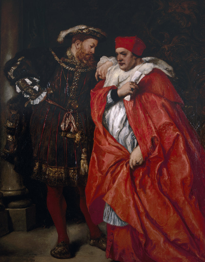 Detail of Ego et Rex Meus; King Henry VIII and Cardinal Wolsey by